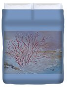 Red Branches Duvet Cover