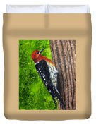 Red Breasted Sapsucker Duvet Cover