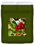 Red Bunch Duvet Cover