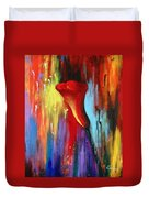 Red Calla Lily Duvet Cover