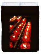 Red Candles Duvet Cover