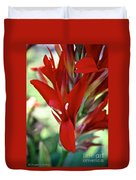 Red Canna Duvet Cover