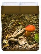 Red Caped Mushroom 1 Duvet Cover