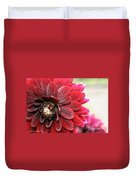 Red Carpet Dahlia Duvet Cover