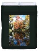 Red Cedar Reflections Duvet Cover