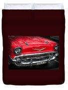 Red Chevvy Duvet Cover