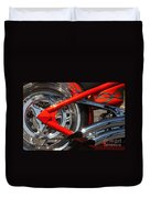 Red Chopper Detail Duvet Cover