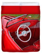 Red Classic Car Duvet Cover