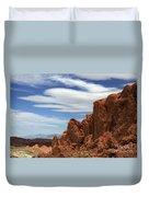 Red Cliffs Blue Sky Duvet Cover