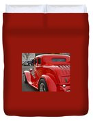 Red Coupe Duvet Cover