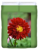 Red Dahlia Unfurled Duvet Cover