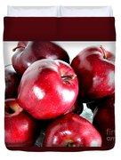 Red Delicious Apples Duvet Cover