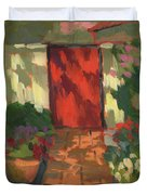 Red Door - Shadow And Light Duvet Cover