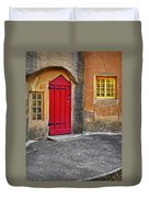 Red Door And Yellow Windows Duvet Cover
