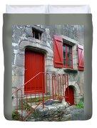 Red Door In Laroche Bernard Duvet Cover