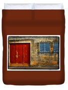 Red Doors Duvet Cover by Mauro Celotti
