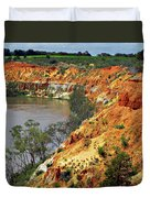 Red Eroded Soil Duvet Cover