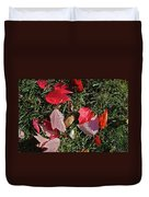 Red Fall Duvet Cover