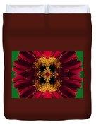 Red Flower Art Duvet Cover