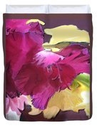 Red Flower In The Abstract Duvet Cover