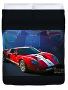 Red Ford Gt40 Duvet Cover