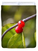 Red Fruits Duvet Cover