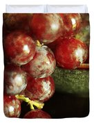 Red Grapes Duvet Cover