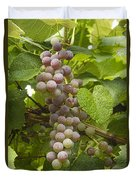 Red Grapes On The Vine Duvet Cover