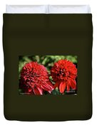 Red Head Twins Duvet Cover