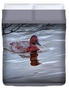 Red Headed Duck Duvet Cover