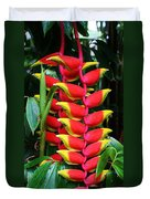 Red Heliconia Duvet Cover
