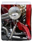 Red Hot Rod- Light And Chrome Duvet Cover