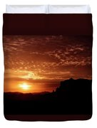 Red Hot Sunrise  Duvet Cover