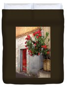 Red In Provence Duvet Cover