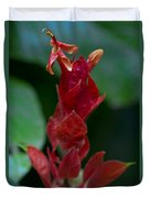 Red Inferno Duvet Cover