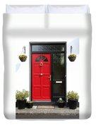 Red Irish Door Duvet Cover