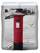 Red King George V Postbox Duvet Cover
