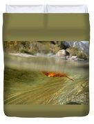Red Leaf Floating Duvet Cover