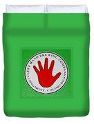 Red Left Hand Duvet Cover