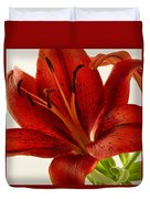 Red Lily Number Two Duvet Cover