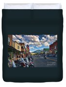 Red  Lodge Motorcycle Rally Duvet Cover