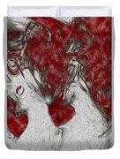 Red Love Duvet Cover