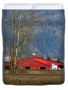 Red Matsqui Barn Duvet Cover