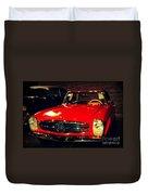 Red Mercedes Sl Duvet Cover