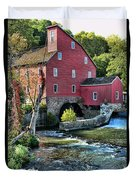 Red Mill On The Water Duvet Cover