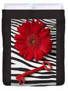 Red Mum And Red Key Duvet Cover