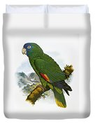 Red-necked Amazon Parrot Duvet Cover