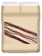 Red Nylon Fibers Duvet Cover