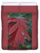 Red Oak Leaf Duvet Cover