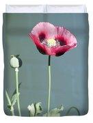 Red Opium Poppy Duvet Cover